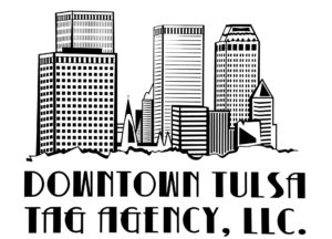 Downtown Tulsa Tag Agency Sign